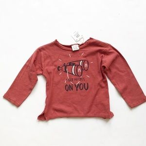 Zara NWT graphic long sleeve top 12-18 months